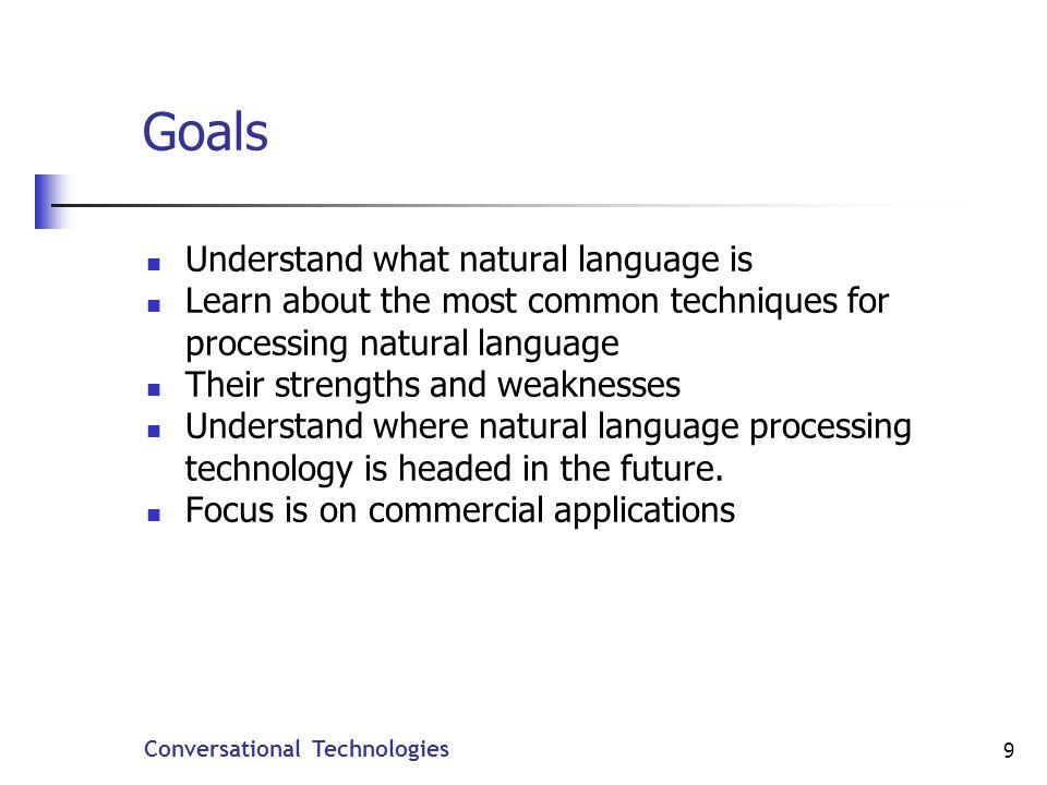 Conversational Technologies 40 Tagged Grammars or SLMs.