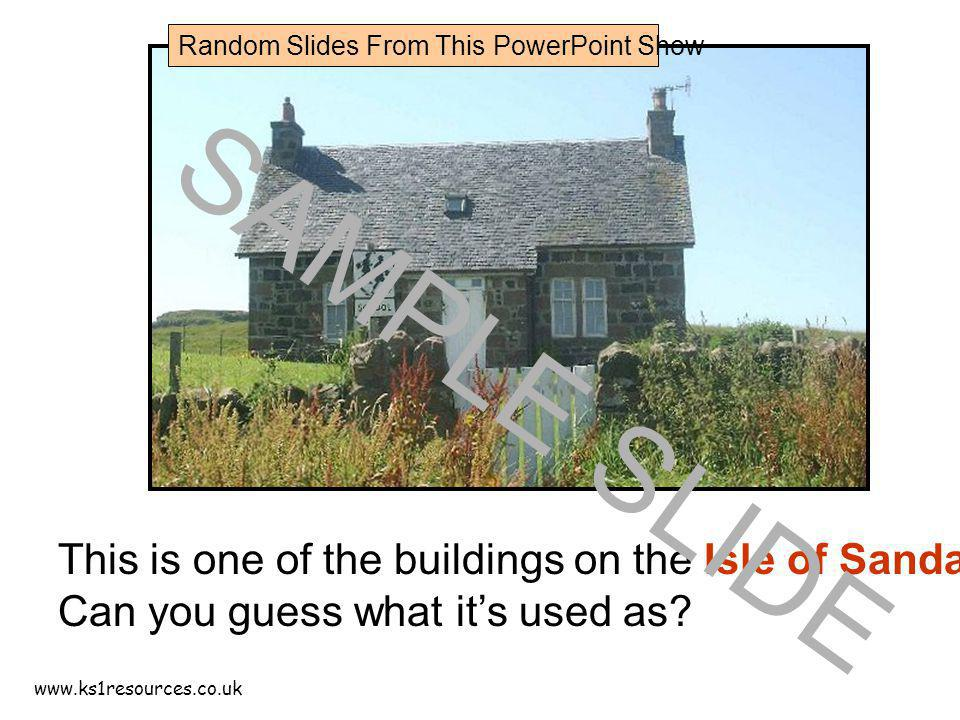 This is one of the buildings on the Isle of Sanday.