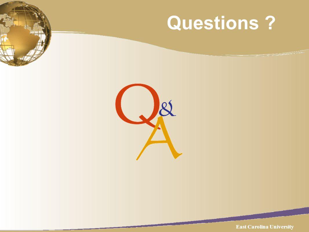 Questions East Carolina University