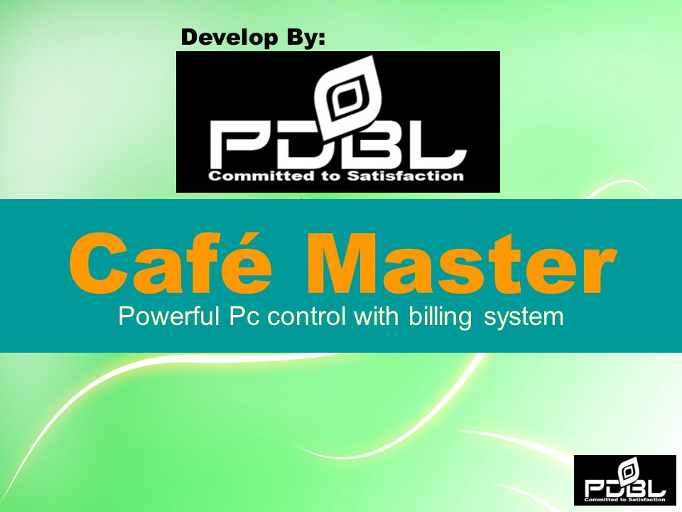 Café Master Powerful Pc control with billing system Develop By: