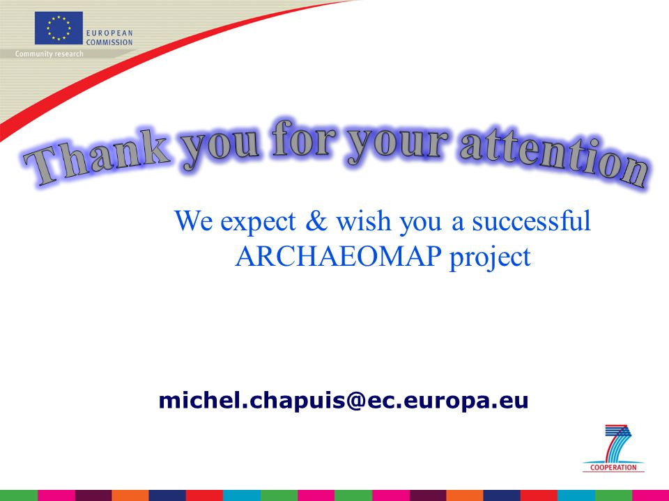 We expect & wish you a successful ARCHAEOMAP project