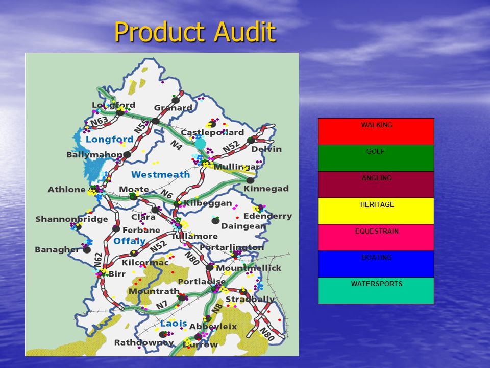 Product Audit WALKING GOLF ANGLING HERITAGE EQUESTRAIN BOATING WATERSPORTS