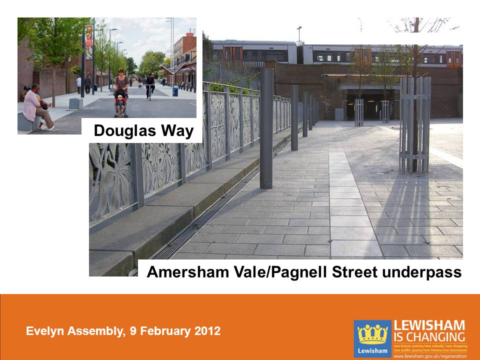 Amersham Vale/Pagnell Street underpass Douglas Way Evelyn Assembly, 9 February 2012