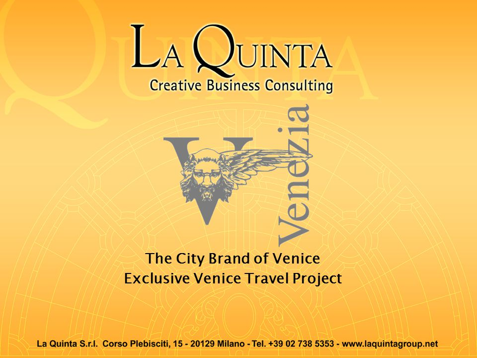 The City Brand of Venice Exclusive Venice Travel Project