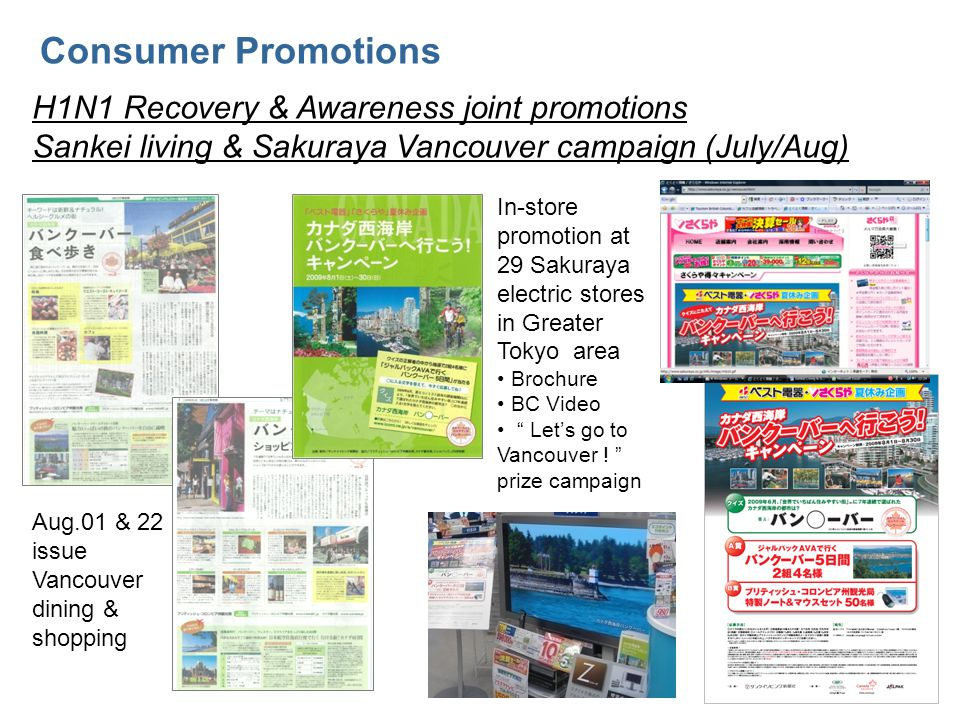 Globe-Trotter Online promotion Consumer & Online Promotions Period : Jun.29, 2009 - Feb.28, 2010 Partnership with Tourism Vancouver and Tourism Whistler and AC.