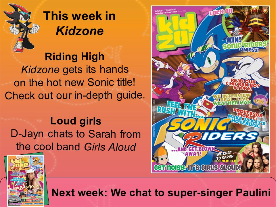 Riding High Kidzone gets its hands on the hot new Sonic title.