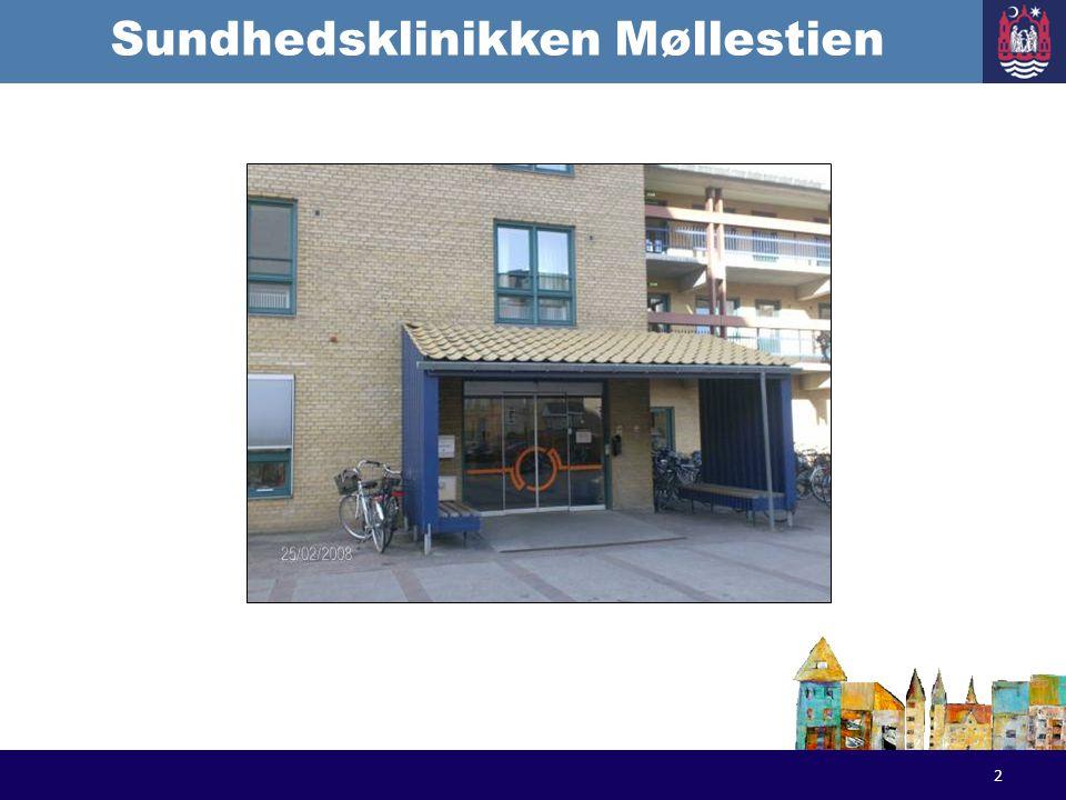 Sundhedsklinikken Møllestien The team of the Health Clinic: Responsible nurse Regular substitute nurse Occupational therapist attached Ad-hoc