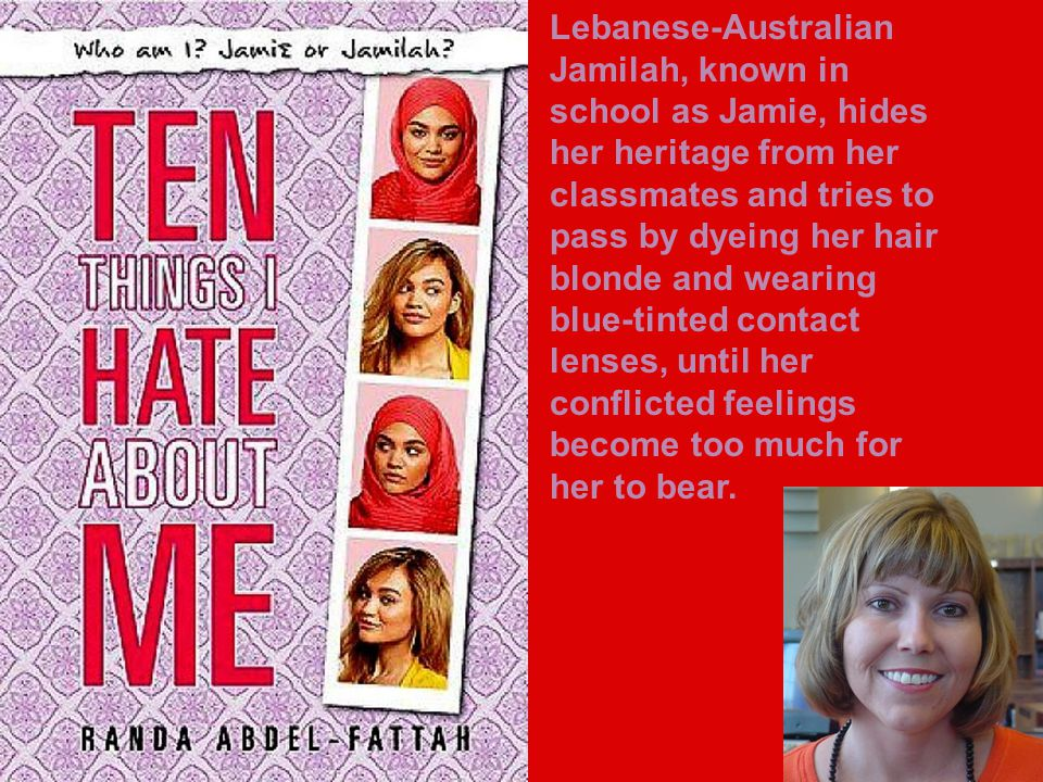 Lebanese-Australian Jamilah, known in school as Jamie, hides her heritage from her classmates and tries to pass by dyeing her hair blonde and wearing blue-tinted contact lenses, until her conflicted feelings become too much for her to bear.