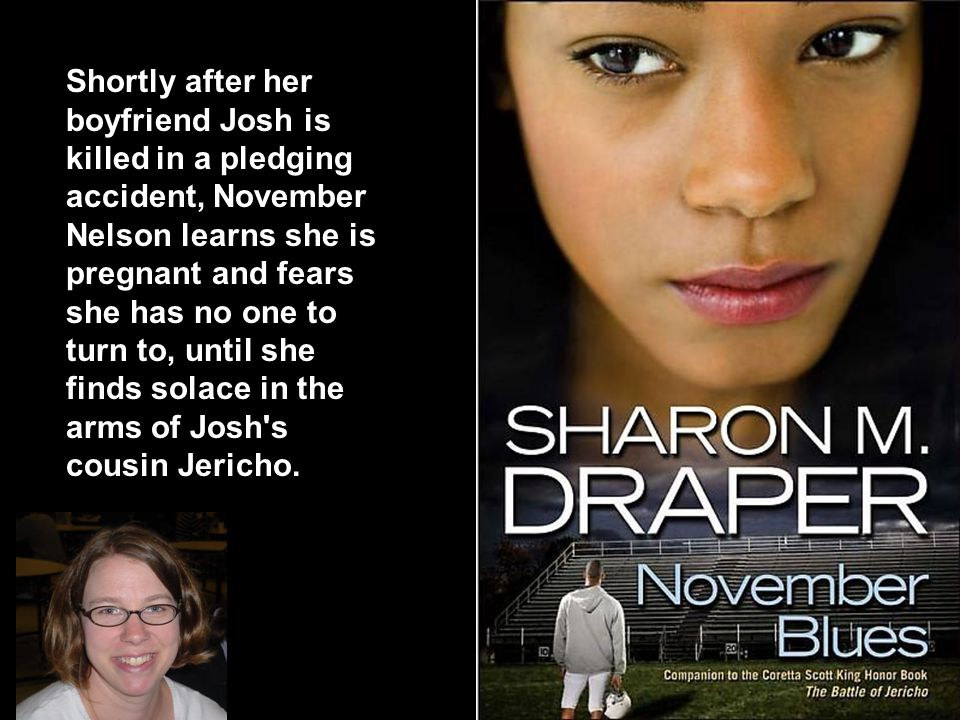Shortly after her boyfriend Josh is killed in a pledging accident, November Nelson learns she is pregnant and fears she has no one to turn to, until she finds solace in the arms of Josh s cousin Jericho.