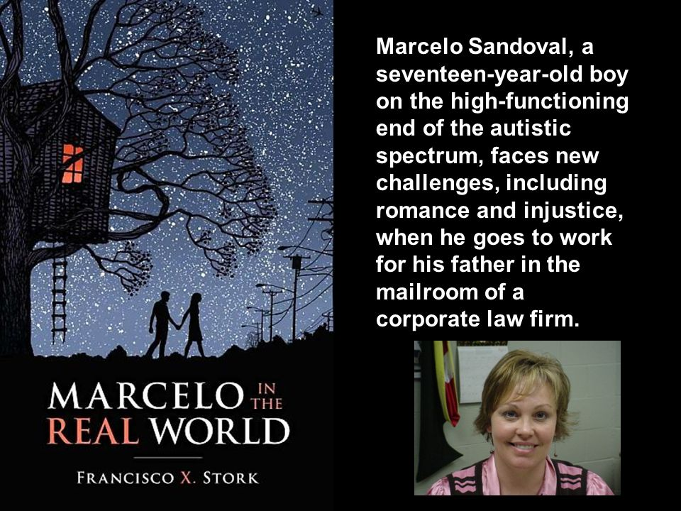 Marcelo Sandoval, a seventeen-year-old boy on the high-functioning end of the autistic spectrum, faces new challenges, including romance and injustice