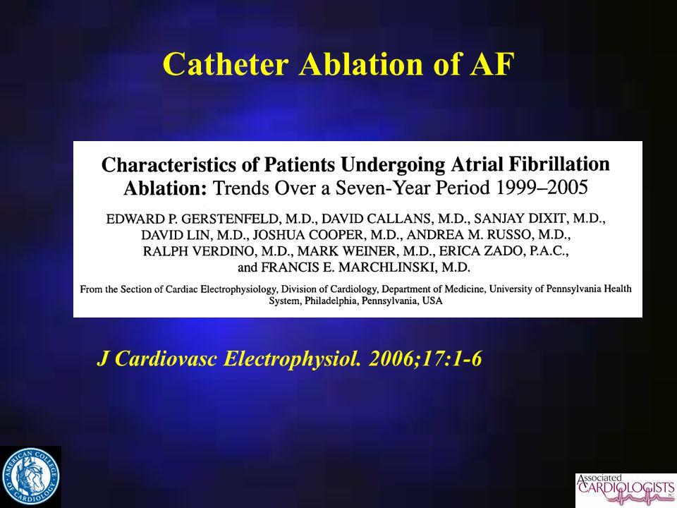 Catheter Ablation of AF J Cardiovasc Electrophysiol. 2006;17:1-6