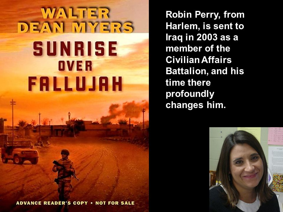 Robin Perry, from Harlem, is sent to Iraq in 2003 as a member of the Civilian Affairs Battalion, and his time there profoundly changes him.