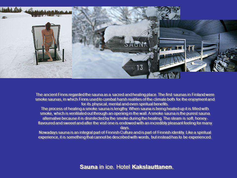 Sauna in ice. Hotel Kakslauttanen.