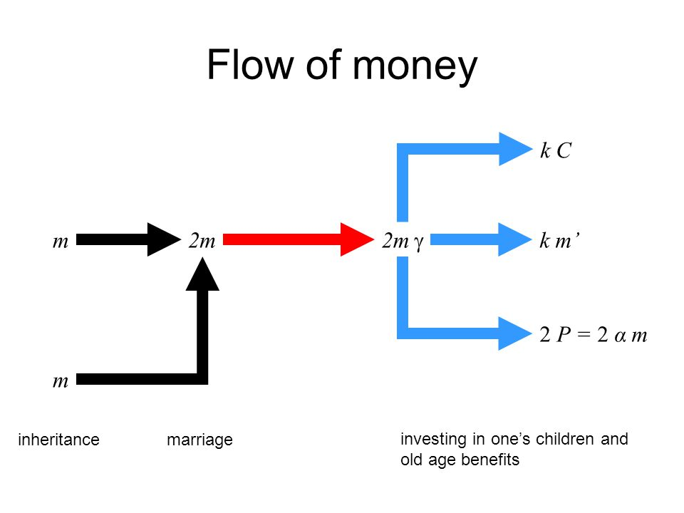 m2m k C m k m 2 P = 2 α m inheritancemarriage investing in ones children and old age benefits Flow of money