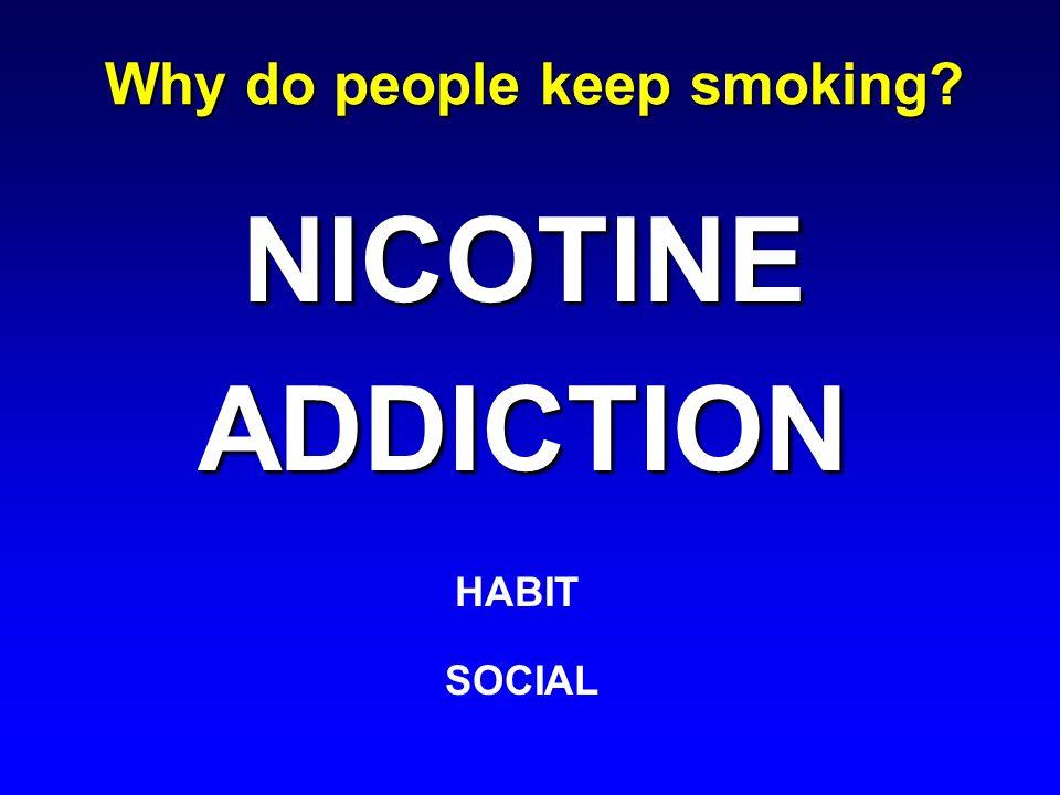 Why do people keep smoking? NICOTINEADDICTION HABIT SOCIAL