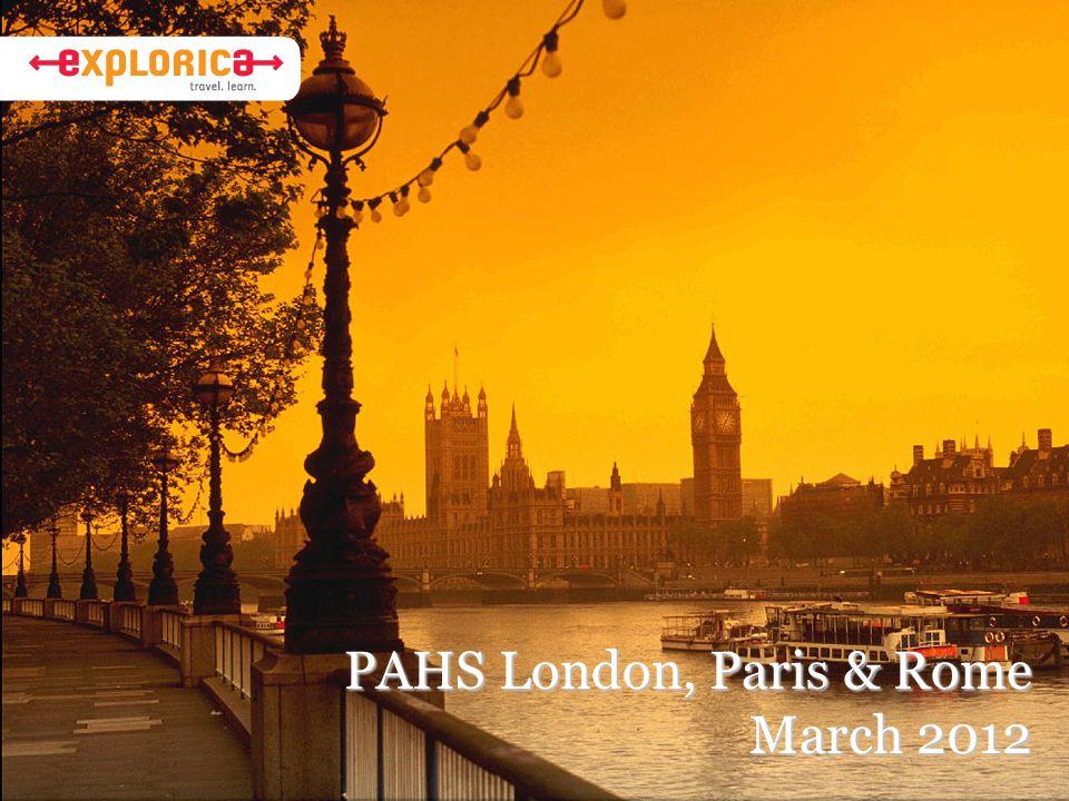 PAHS London, Paris & Rome March 2012