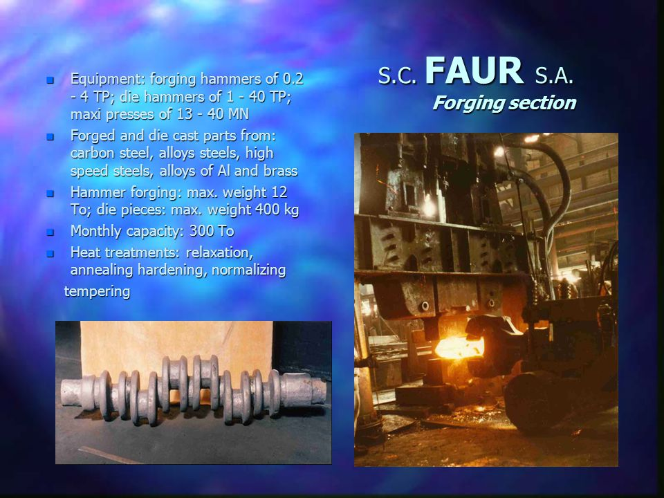 S.C. FAUR S.A. Diesel engines Generating and power sets, repairs n Based n Based on MTU Germany license documentation (320-1250 HP, for: heavy vehicle
