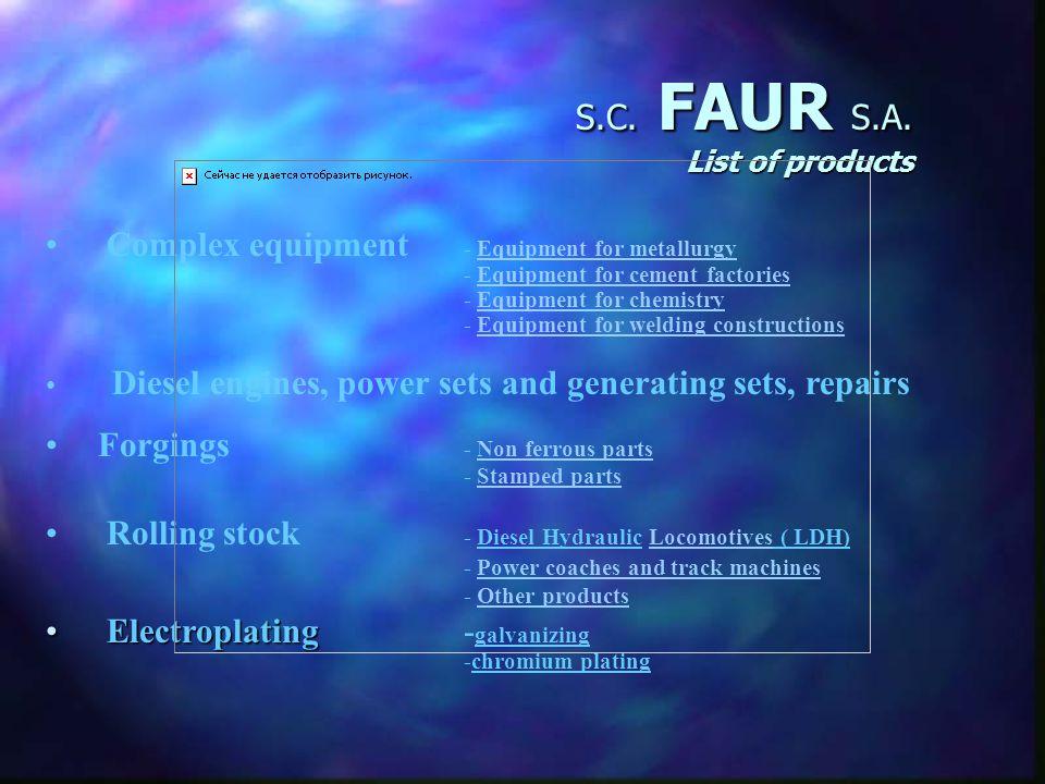 S.C. FAUR S.A. Quality FAUR S.A.