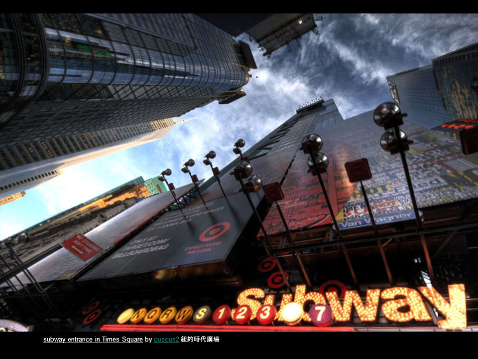 subway entrance in Times Square by gusgus2 gusgus2
