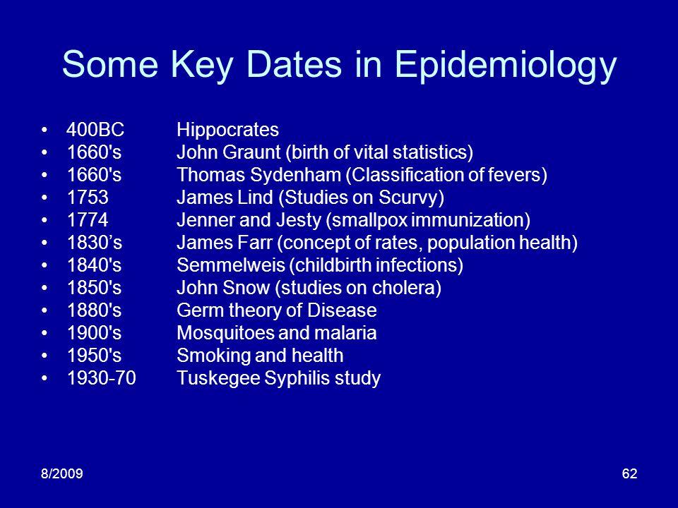 8/200963 Examples (1):Streptomycin & TB First modern RCT (1946).