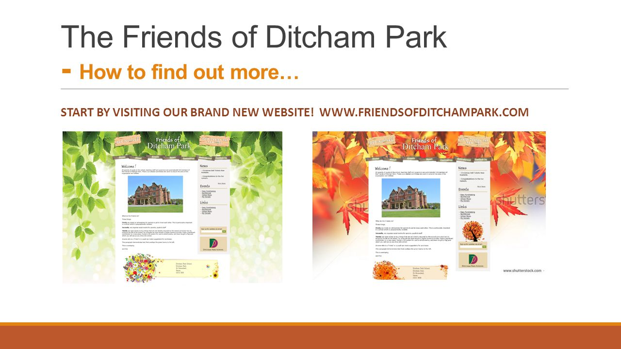 START BY VISITING OUR BRAND NEW WEBSITE.