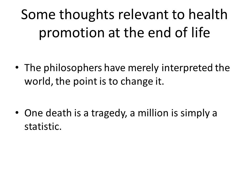 The shameful death Social change brought the professionalisation of death Also brought the decline of social support and collective responsibility General failure to make a good and well organised death possible