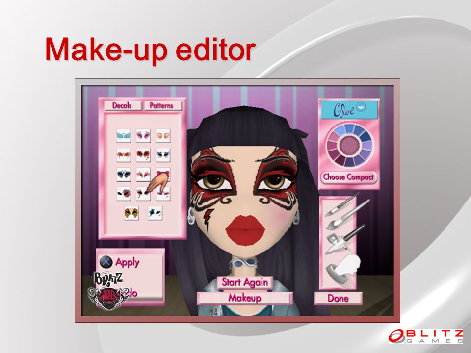 Make-up editor