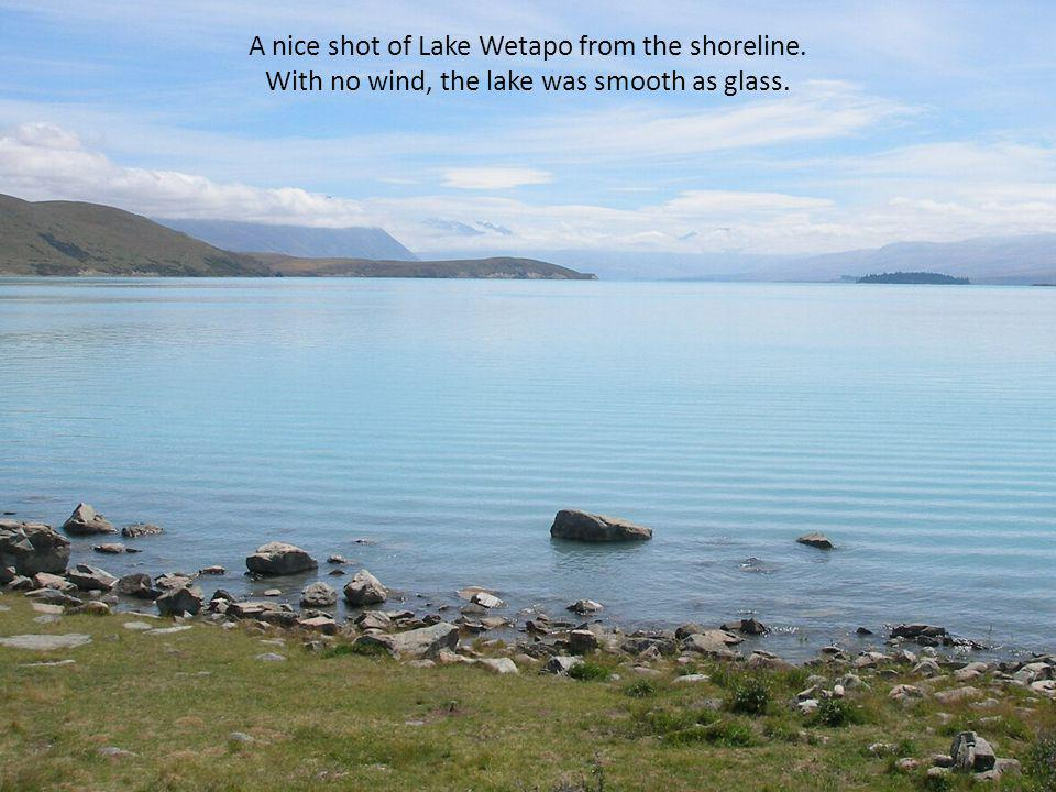 A nice shot of Lake Wetapo from the shoreline. With no wind, the lake was smooth as glass.