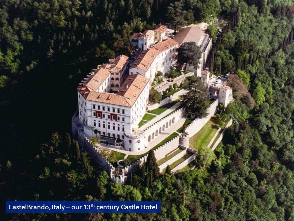 CastelBrando, Italy – our 13 th century Castle Hotel