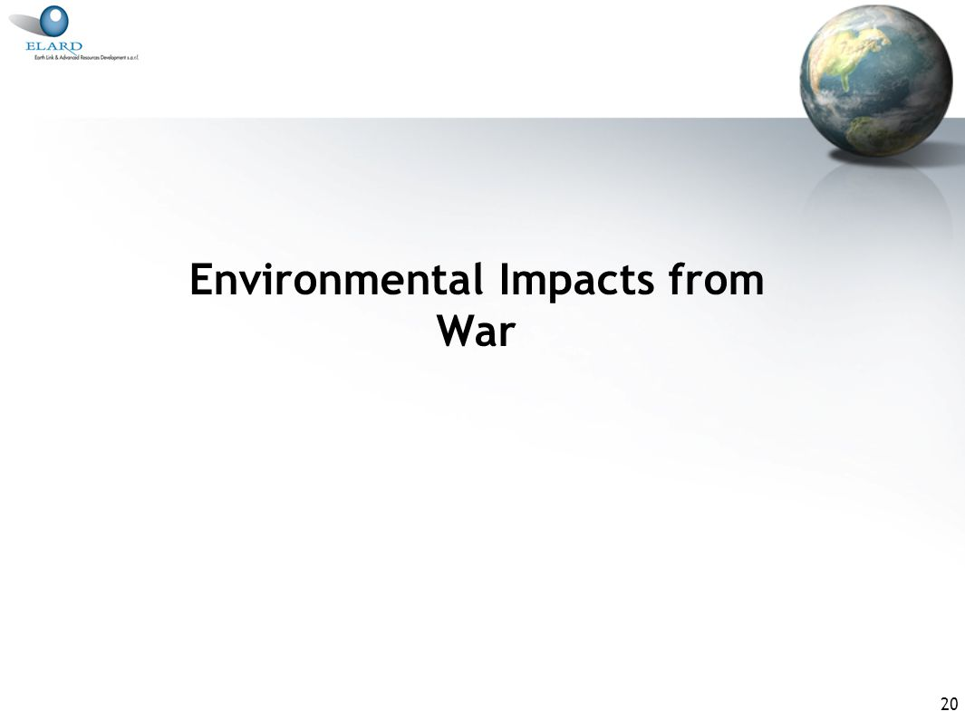 20 Environmental Impacts from War