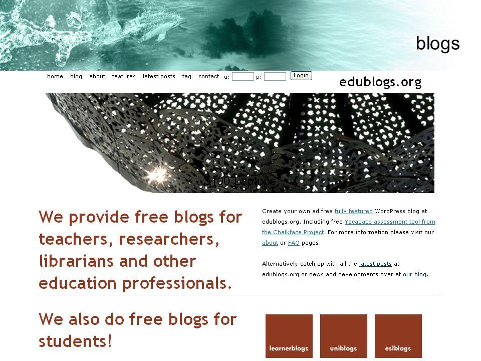 blogs $100 Laptops