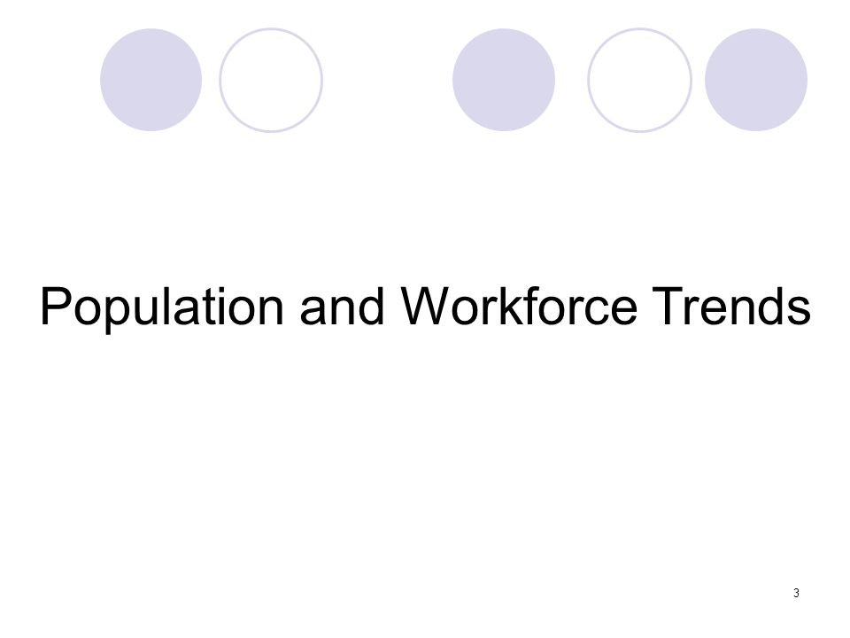 3 Population and Workforce Trends