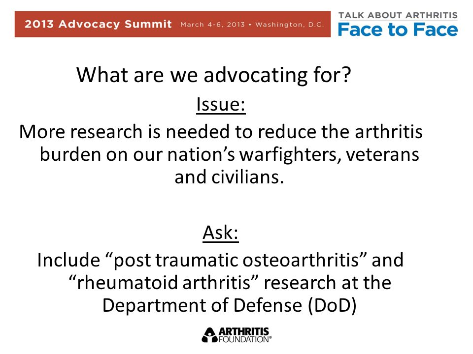 What are we advocating for.