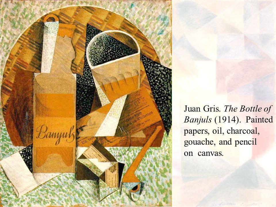 Juan Gris.The Bottle of Banjuls (1914).