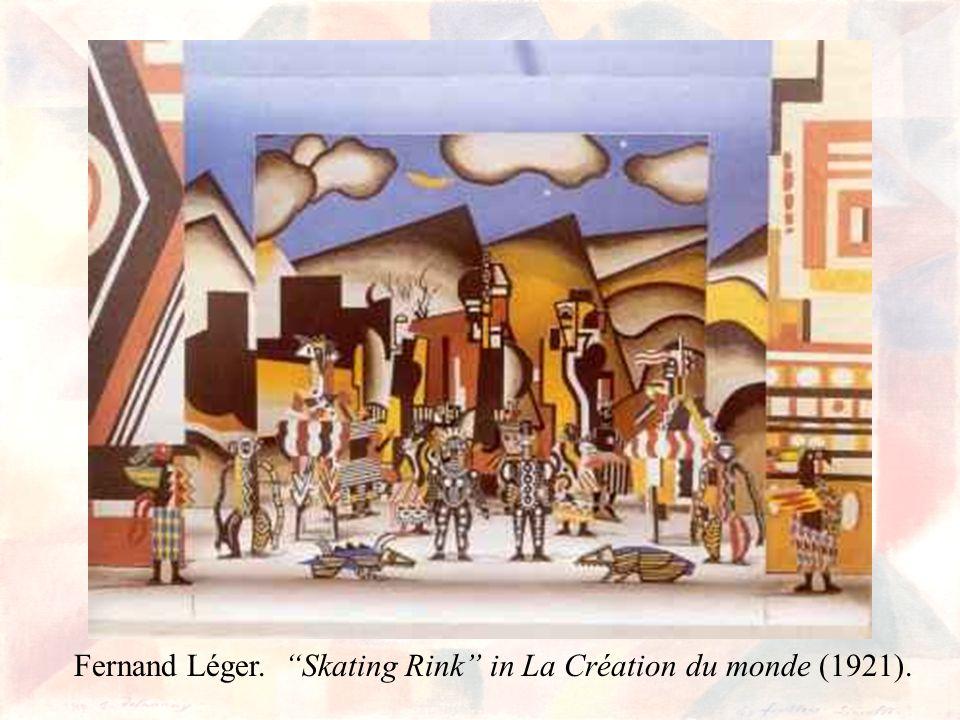 Fernand Léger. Skating Rink in La Création du monde (1921).