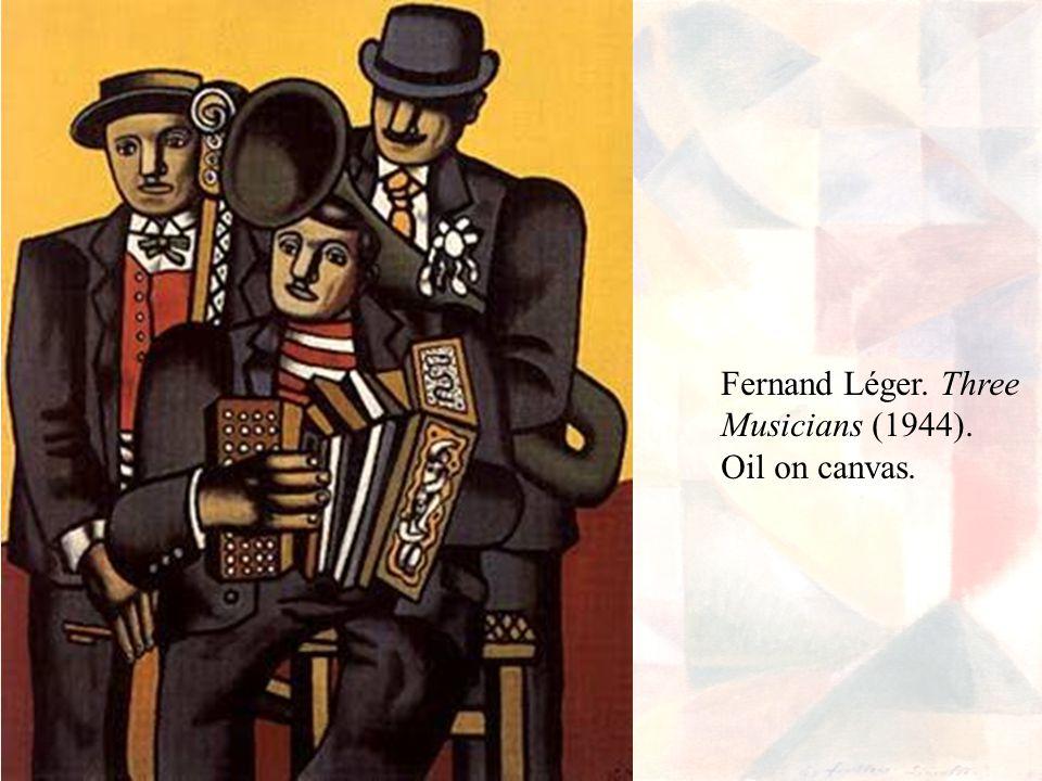 Fernand Léger. Three Musicians (1944). Oil on canvas.