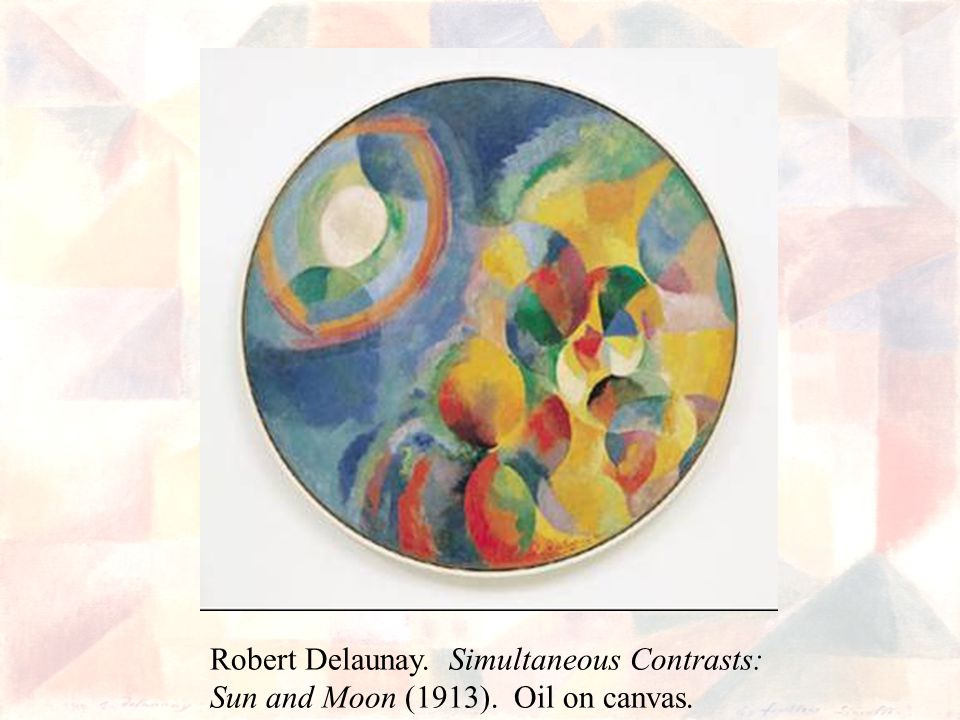 Robert Delaunay. Simultaneous Contrasts: Sun and Moon (1913). Oil on canvas.
