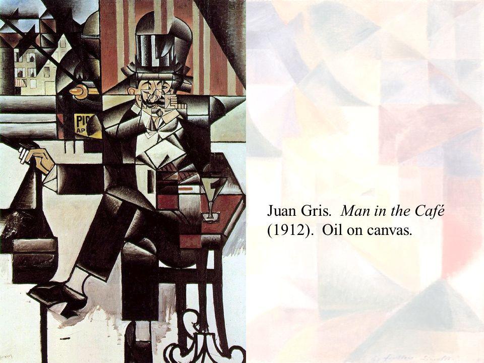 Juan Gris. Man in the Café (1912). Oil on canvas.