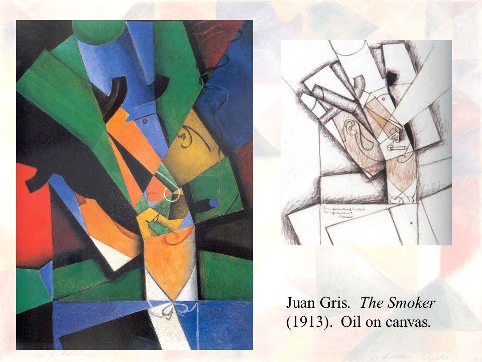 Juan Gris. The Smoker (1913). Oil on canvas.