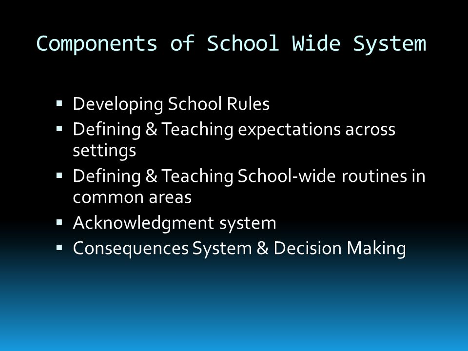What is PBIS? POSITIVE BEHAVIOR INTERVENTIONS & SUPPORTS A system to establish the school culture and behavioral supports needed for school to be an e