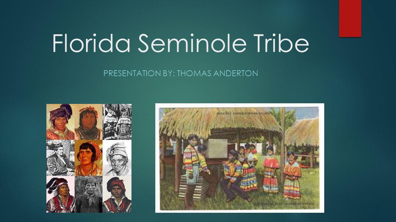 Florida Seminole Tribe PRESENTATION BY: THOMAS ANDERTON