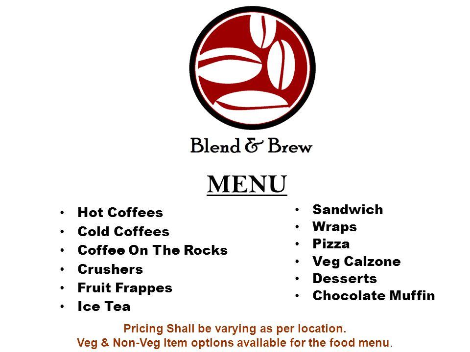 Brew & Blend Finance Sheet Interiors Approx.