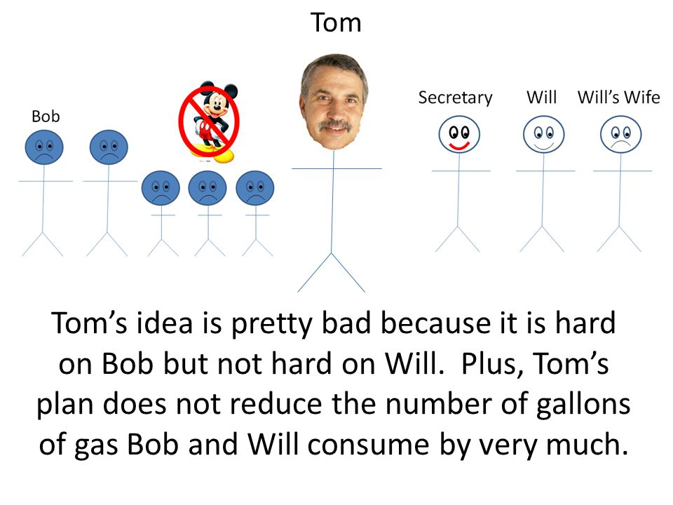 Toms idea is pretty bad because it is hard on Bob but not hard on Will.