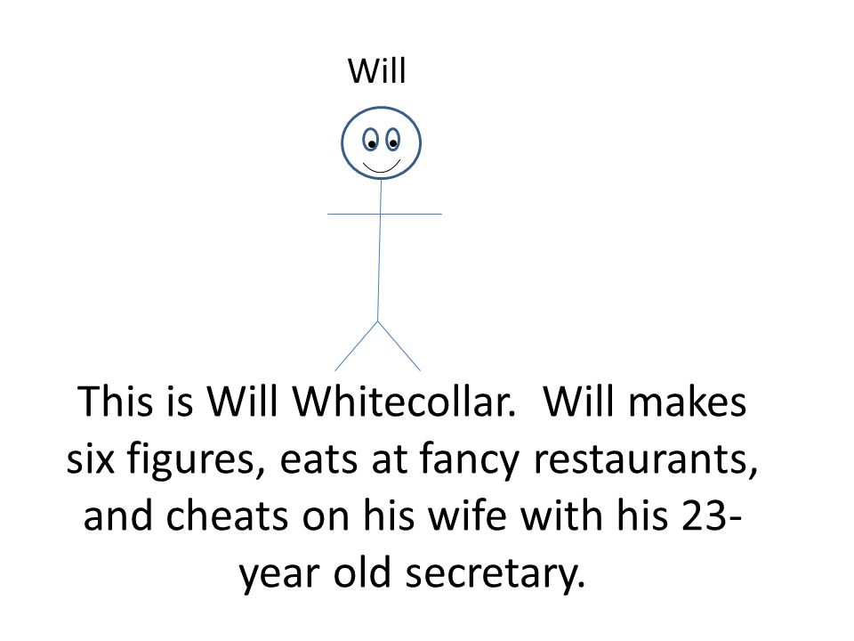 This is Will Whitecollar.