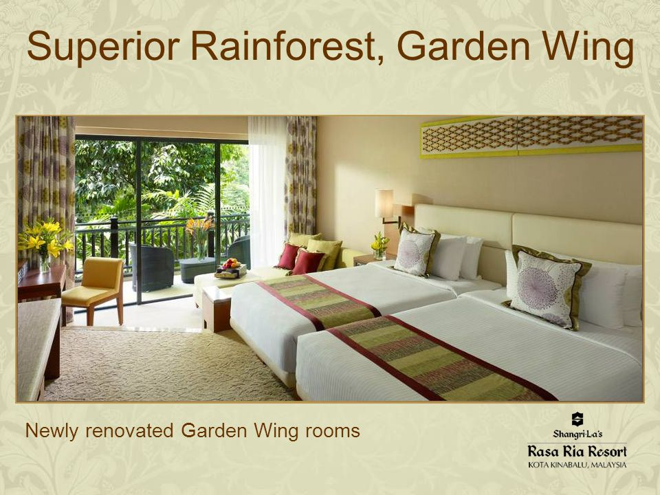 Newly renovated Garden Wing rooms Superior Rainforest, Garden Wing