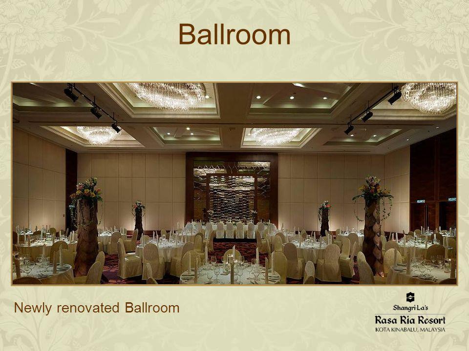 Ballroom Newly renovated Ballroom
