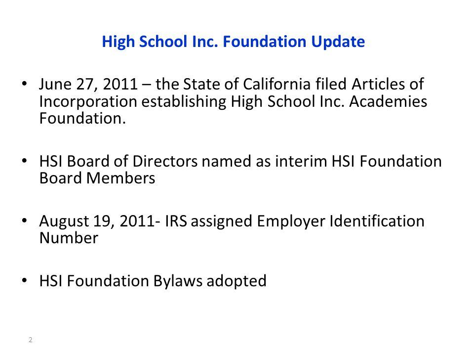 3 2011 High School Inc.