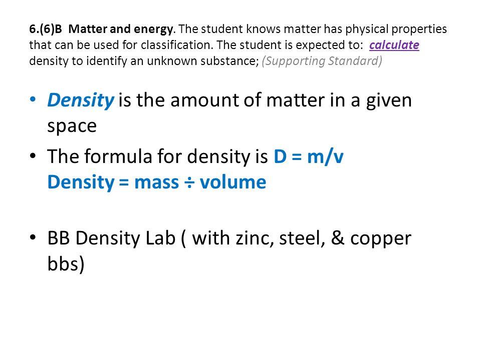 6.(6)B Matter and energy.