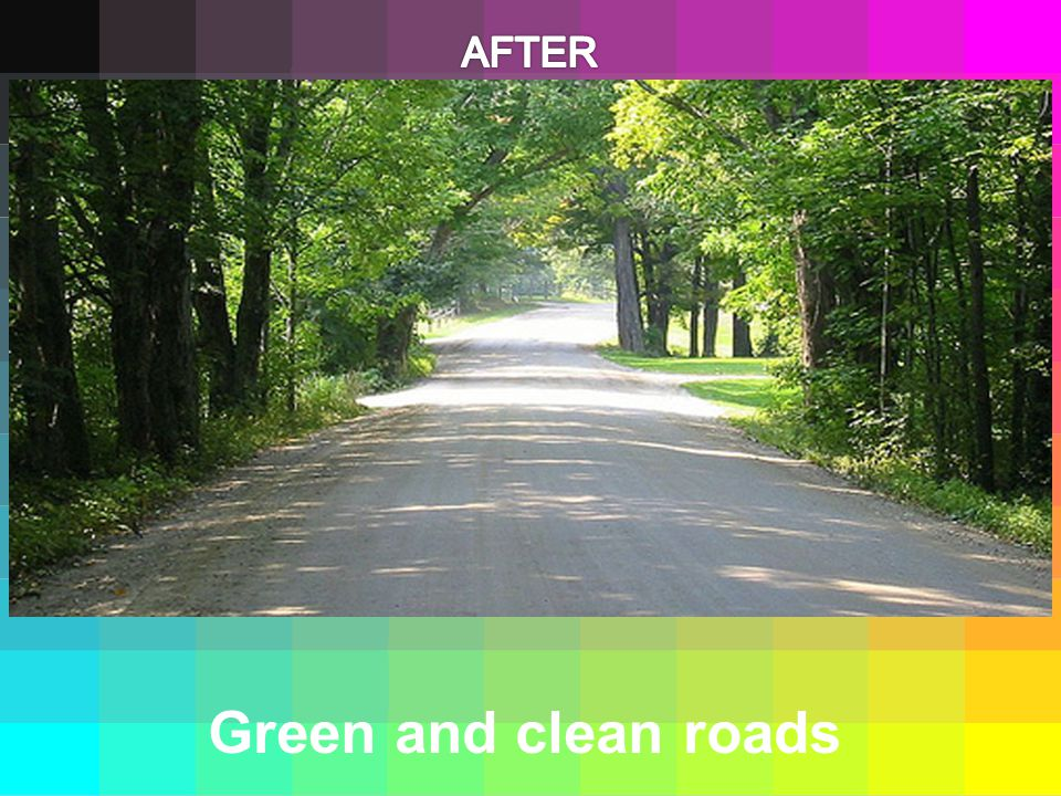 Green and clean roads