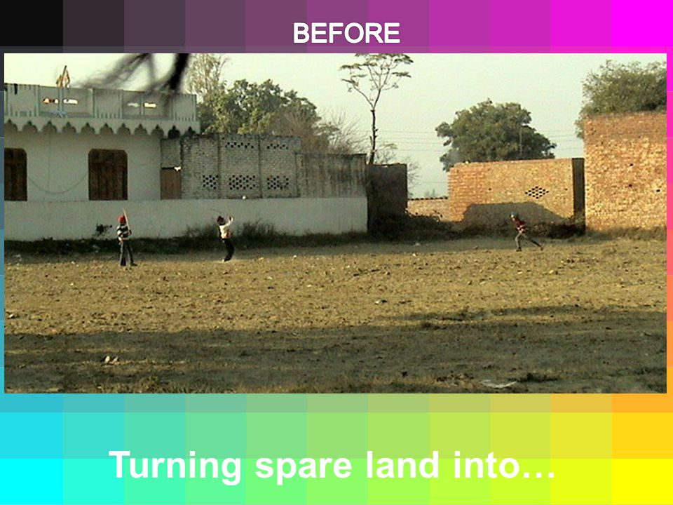 Turning spare land into…